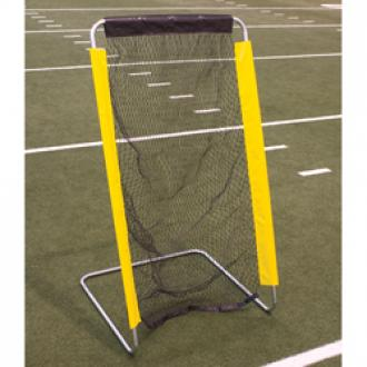 Football kicking net for sideline training and warm-up or drills.