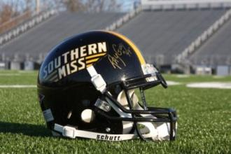 Ray Guy autographed University of Southern Mississippi helmet