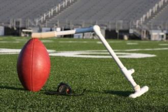 The College Field Goal Package contains a Sidekick Portable Football Holder....