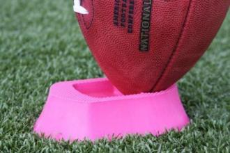 The Ground Zero Pink Football Kicking Tee one (1) inch for kickoffs