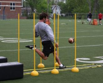 Punting alignment poles are innovatively designed to properly guide punters...