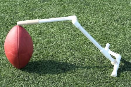 how to make a football kicking tee