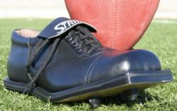 Football Square Toe Kicking Shoe