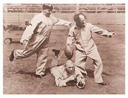 "Three Stooges Football Kicking 11"" X 14"" Photo"