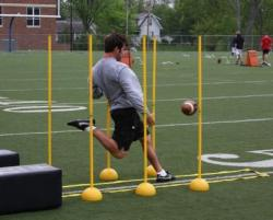 Punting Alignment Pole System for artificial or natural grass